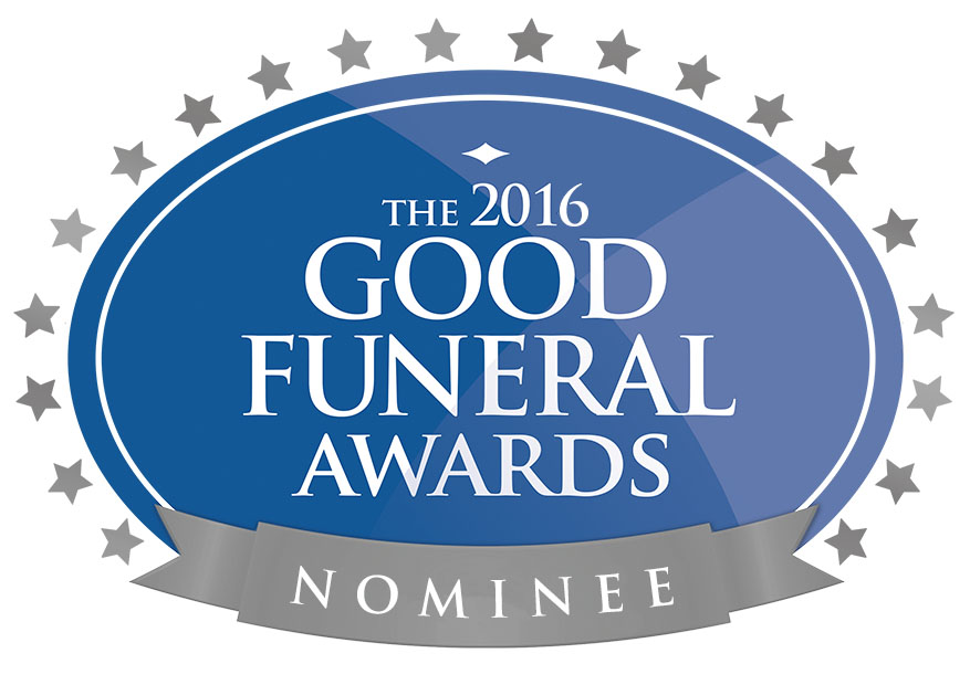 Pleased with the news that I have been selected from hundreds of nominees to go through to the final stages of this year's glittering Good Funeral Awards ceremony.
